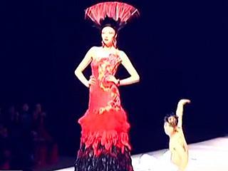 卡特丽在中国时装周